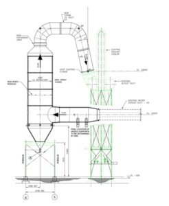 Spray Tower Drawing